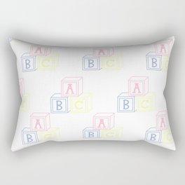 Alphabet Blocks Rectangular Pillow
