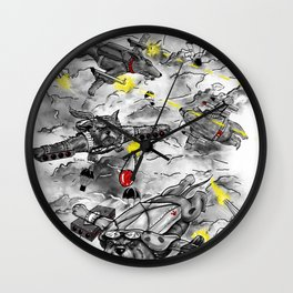 Dog Fight Wall Clock