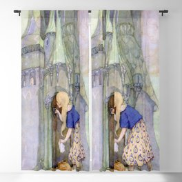 """The Seven Ravens"" by Anne Anderson Blackout Curtain"