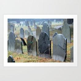 Historic Charter Street Burial Grounds  Art Print