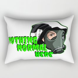 """Show your support """"Nothing Normal Here Logo"""" Rectangular Pillow"""