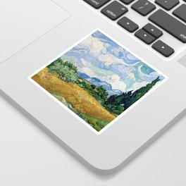 Wheat Field with Cypresses by Vincent van Gogh Sticker