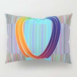 Fractal Art- Pattern Art- Heart Art- Blue Hearts-Pixxie Stixx- LGBT Art- Love- Healing Energy Art Pillow Sham