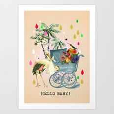 Hello Baby! Art Print