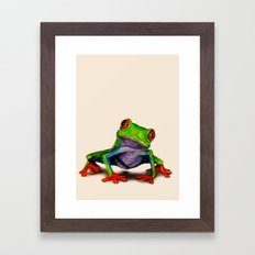 Mr. Ribbit Framed Art Print