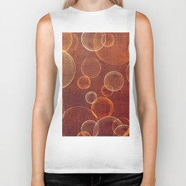 orange bubbles Biker Tank