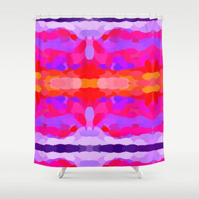 Purple Pink And Orange Tie Dye Shower Curtain