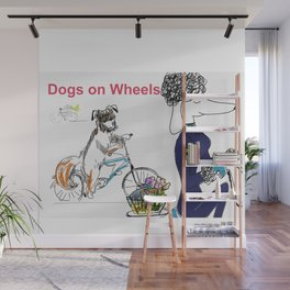 Dogs On Wheels Wall Mural