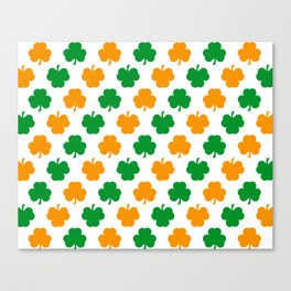 Irish Shamrocks Canvas Print
