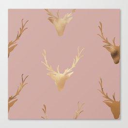 Gold Foil Deer, Wall Tapestry, Art-Prints, Deer Art Prints, Nature Canvas Print
