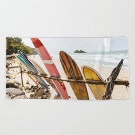Surfing Day 2 Beach Towel