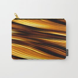 Abstract Orange And Black Waves Carry-All Pouch