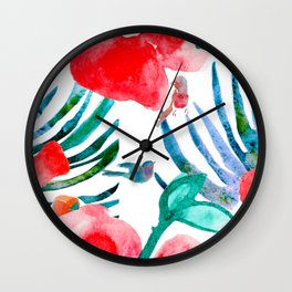 Tropical Pattern Wall Clock