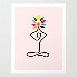 Love for yoga Art Print