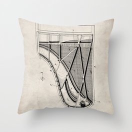 Steinway Piano Patent - Piano Player Art - Antique Throw Pillow