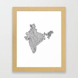 India Map Illustration Framed Art Print