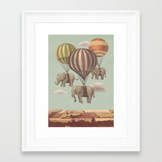 Flight of the Elephants - mint option Framed Art Print