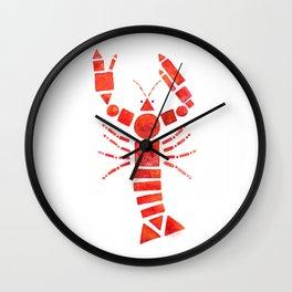 Geometric Lobster Wall Clock