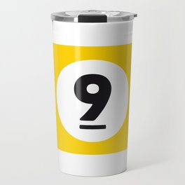 9 ball yellow Travel Mug