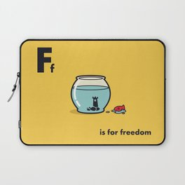 F is for freedom - the irony Laptop Sleeve