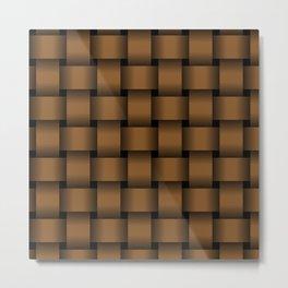 Large Brown Weave Metal Print