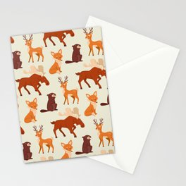 Forest Animal Pattern Stationery Cards