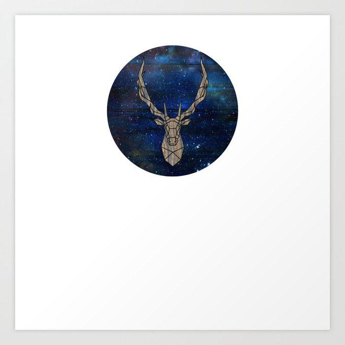 Geometric Space Elk Art Print