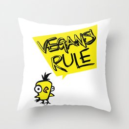 Vegans rule! Throw Pillow