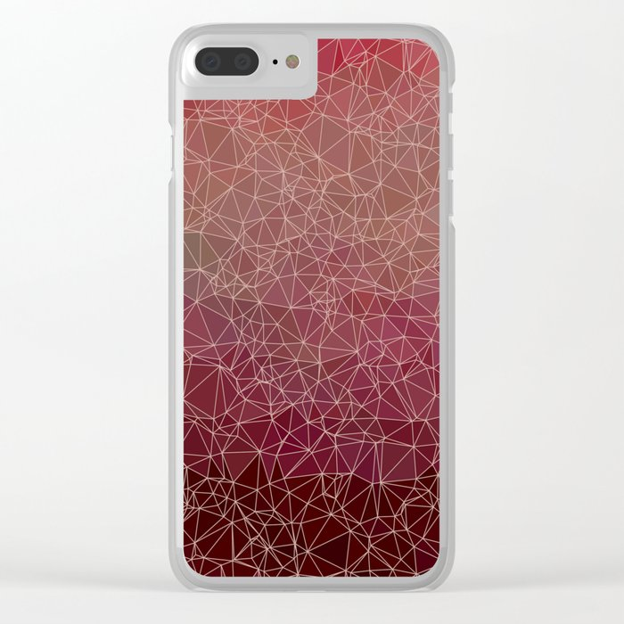 Polygonal A1 Clear iPhone Case