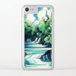 Water Ways Clear iPhone Case