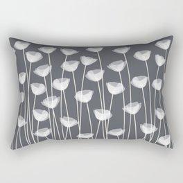 White Poppies Rectangular Pillow
