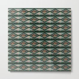 Kachina Eagle Diamond Coordinate Metal Print