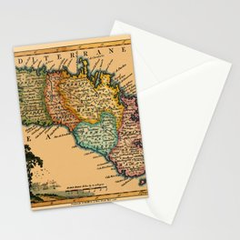 Map Of Minorca 1756 Stationery Cards