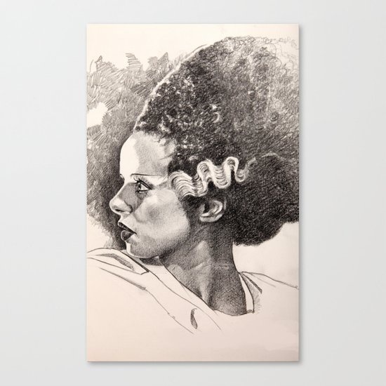 The bride of frankenstein elsa lancaster Canvas Print