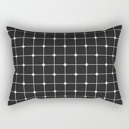 Black Points Rectangular Pillow