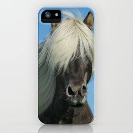 Icelandic Horse Closeup iPhone Case