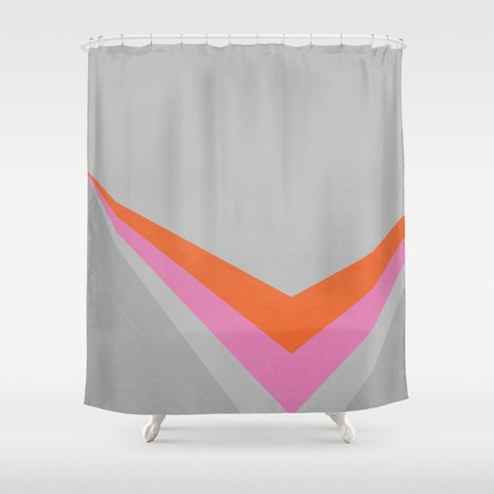 Sun on the wall Shower Curtain