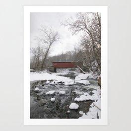 Thomas Mills Covered Bridge, Philadelphia Art Print