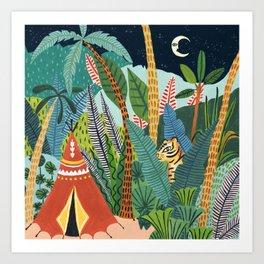 Jungle Tipi Tiger Art Print