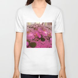 Walking across a dream meadow Unisex V-Neck