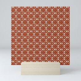 Bohemian Tile in Rust Orange Mini Art Print