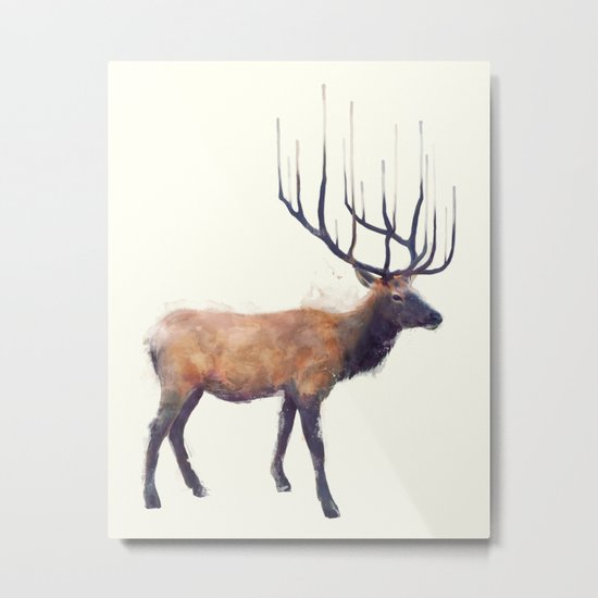 Elk // Reflect (Right) Metal Print