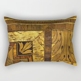 Wood Inlay Rectangular Pillow