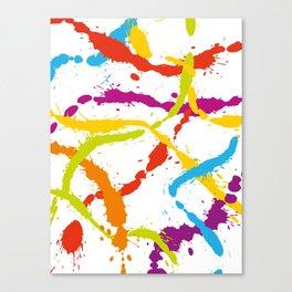 Splattered Rainbow [WHITE] Canvas Print