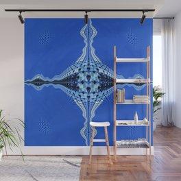 Blue Divine Eye Mandala Wall Mural