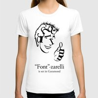 font T-shirts featuring 'Font'-zarelli by Christian Bailey