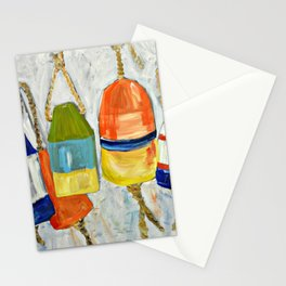 Lobster Buoys Stationery Cards