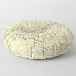 A Celestial Planisphere or Map of The Heavens Floor Pillow