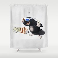 3d Shower Curtains featuring 3D by rob art | illustration