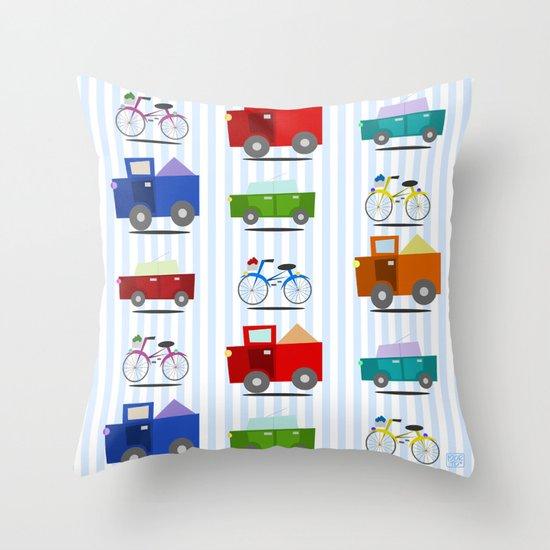 Cars Throw Pillow